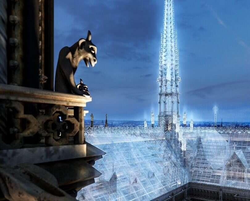 Odbudowa dachu Notre-Dame ze szkła