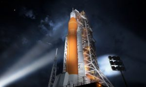Ogromna rakieta która poleci na Księżyc wkrótce zostanie ukończona
