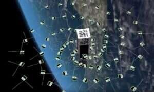 W atmosferze umieszczono rój kilkucentymetrowych satelitów