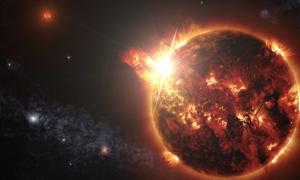Zaobserwowano jak gwiazda wystrzeliwuje w kosmos plazmę