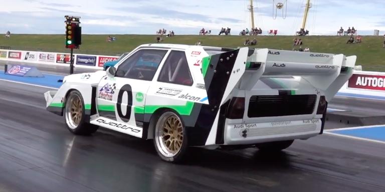 Obejrzyj jak Audi Quattro S1 zalicza ćwierć mili w 10 sekund