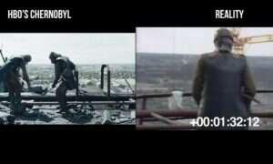 Porównanie kadrów z serialu Czarnobyl z oryginalnymi nagraniami