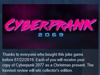 Cyberprank 2069 zniknął ze Steama