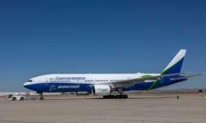 Samolot ecoDemonstrator Boeinga z inteligentnymi toaletami i kamerami zewnętrznymi