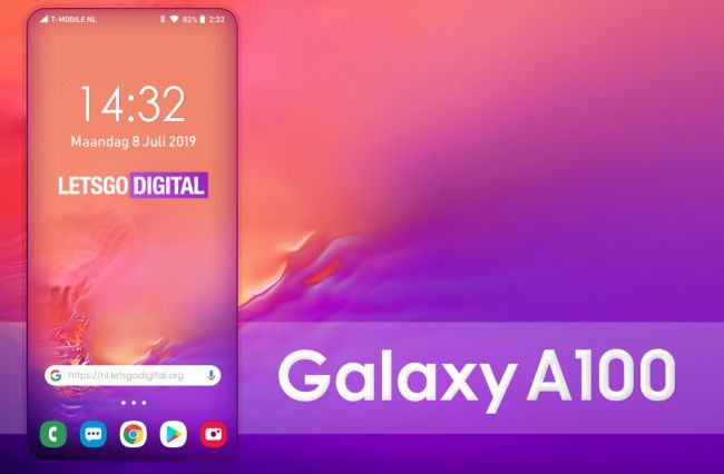 Galaxy A100, samsung Galaxy A100, render Galaxy A100, rendery Galaxy A100, ramki Galaxy A100, brak ramek Galaxy A100