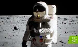 Jeszcze lepsze odwzorowanie lądowania na księżycu od NVIDIA