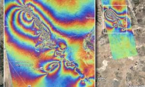 Efekty trzęsienia ziemi na terenie Kalifornii są widoczne z kosmosu