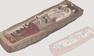 Celtycka kobieta została pogrzebana w drzewnym grobie
