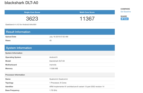 Snapdragon 855+, geekbench Snapdragon 855+, kirin 985 Snapdragon 855+, black shark 2 pro, benchmark Snapdragon 855+, wydajność Snapdragon 855+