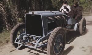 Wyścigowy samochód Mors z 1908 roku może przerażać