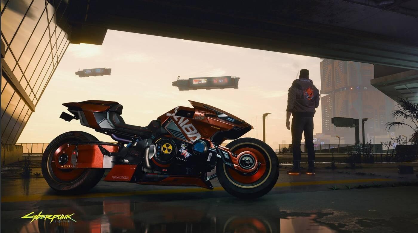 Motocykl na nowym screenshocie z Cyberpunk 2077