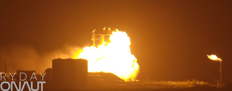 Starhopper SpaceX zajął się ogniem po teście