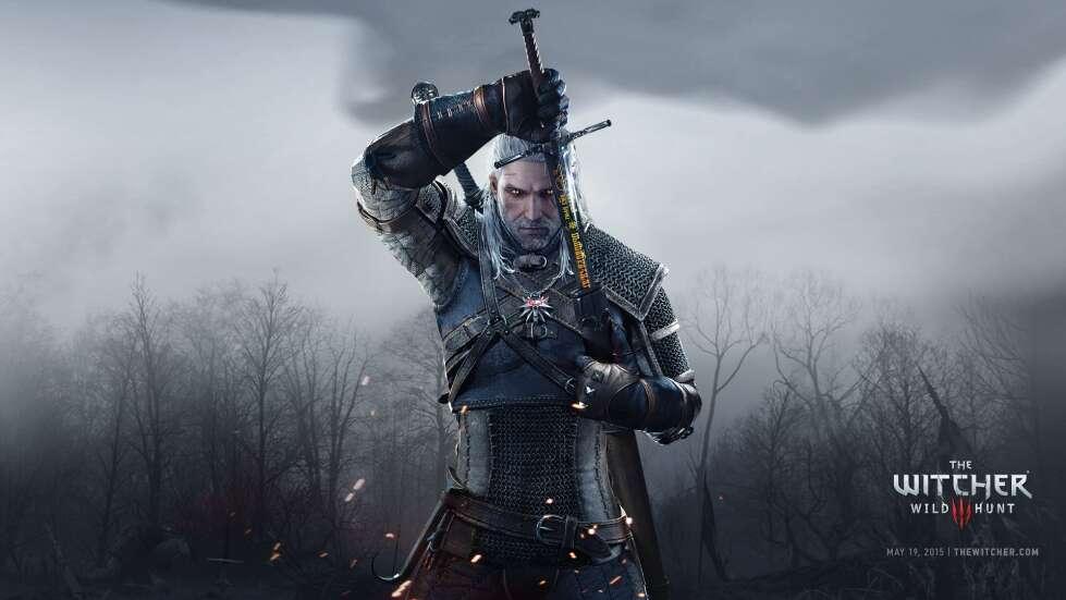 jednego miecza Geralta na plakacie serialu