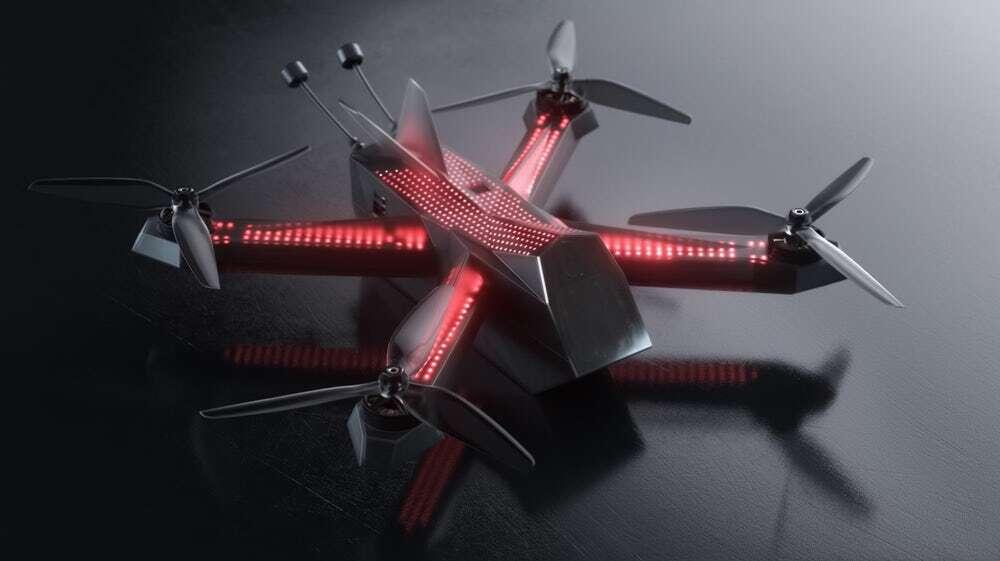 Profesjonalny dron wyścigowy od Wyścigowej Ligi Dronów