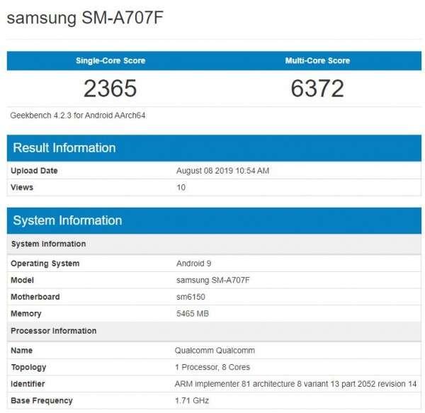 Samsung Galaxy A70s, geekbench Samsung Galaxy A70s, test Samsung Galaxy A70s wydajność Samsung Galaxy A70s specyfikacja Samsung Galaxy A70s, zmiany Samsung Galaxy A70s