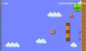 Pierwszy poziom Mario, ale w pionie