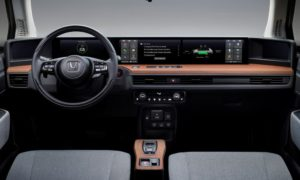 Kokpit w Honda e dorównuje temu z samochodów Tesli