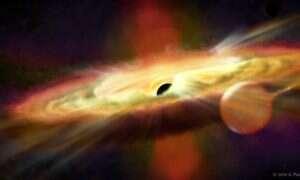 W pobliżu tej czarnej dziury występuje powtarzający się, tajemniczy wiatr kosmiczny