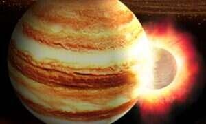Jowisz mógł zderzyć się kiedyś z planetą 10 razy większą od Ziemi