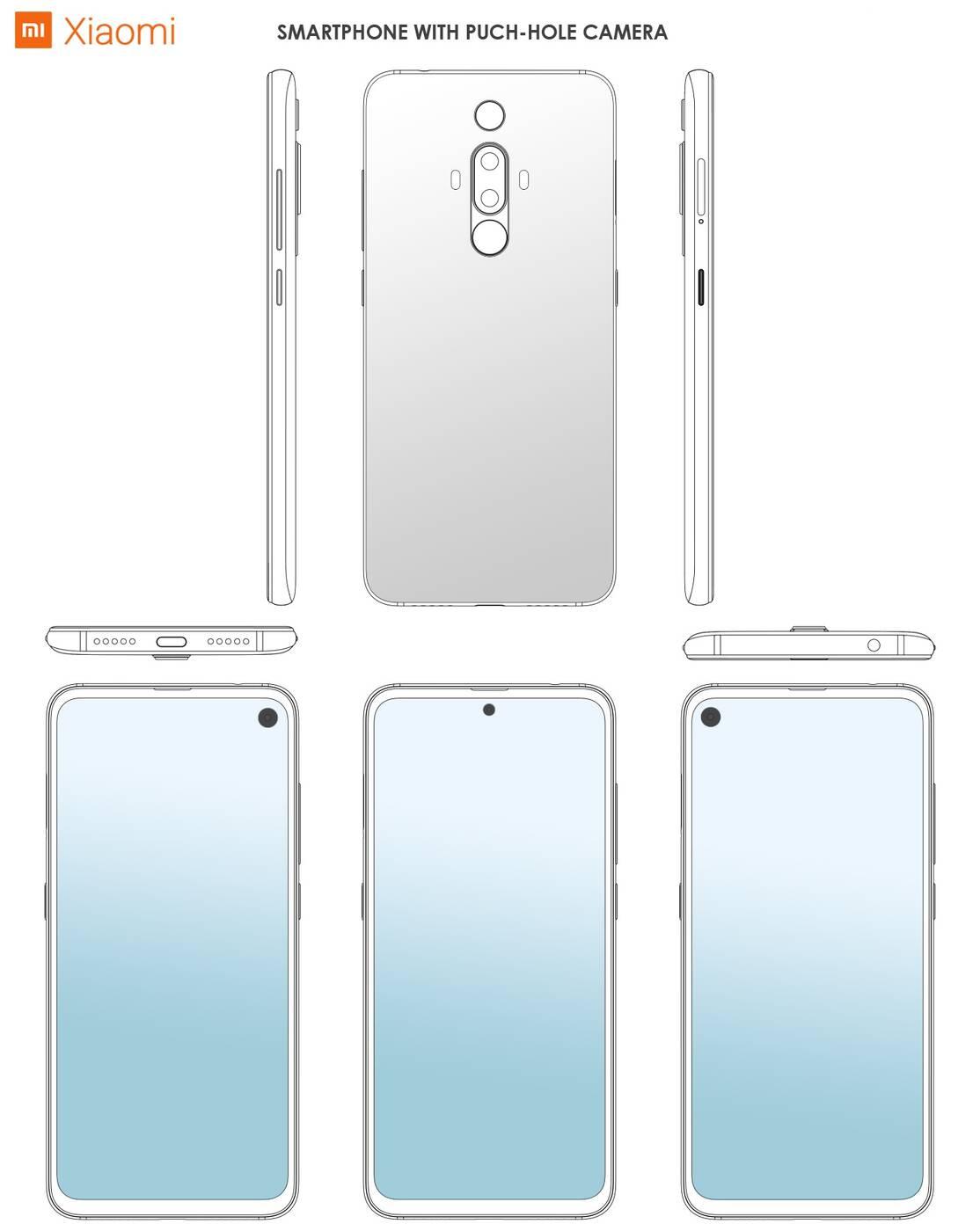 Xiaomi, patent Xiaomi, otwór Xiaomi, otwór w ekranie Xiaomi, otwór na aparat Xiaomi