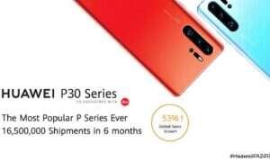 Jak dobrze sprzedał się Huawei P30?
