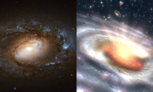 Sześć galaktyk dokonało tajemniczych transformacji