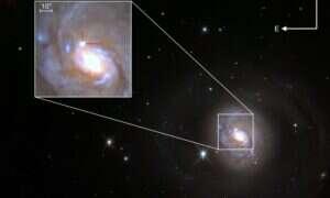 W tej galaktyce odkryto niezwykłą supernową typu II
