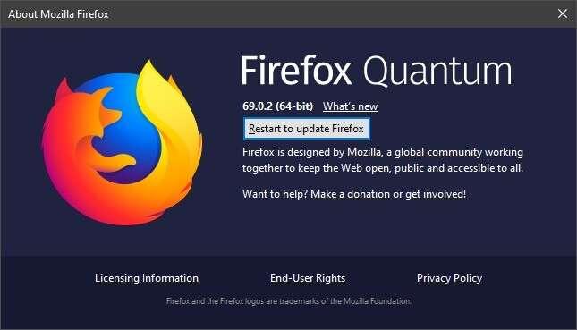aktualizacja firefox, firefox, firefox quantum, update Firefox Quantum 69.0.3, problemy Firefox Quantum 69.0.2