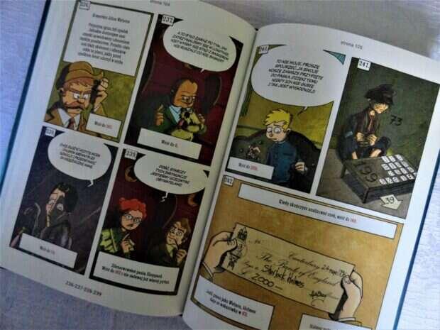Sherlock Holmes & Moriarty: Konfrontacja, komiks paragrafowy, Sherlock Holmes, Fox Games,