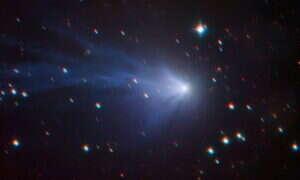 Astronomowie zauważyli niezwykłą, niebieską kometę