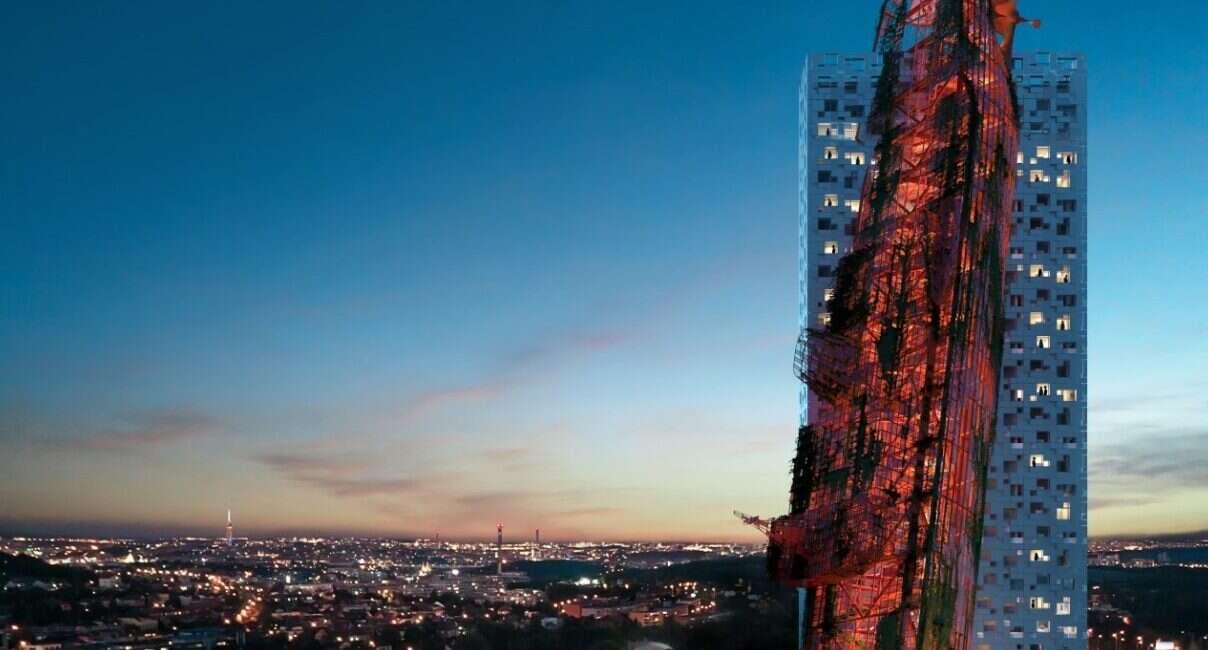 Spójrzcie na koncepcyjny wieżowiec w kształcie wraku statku