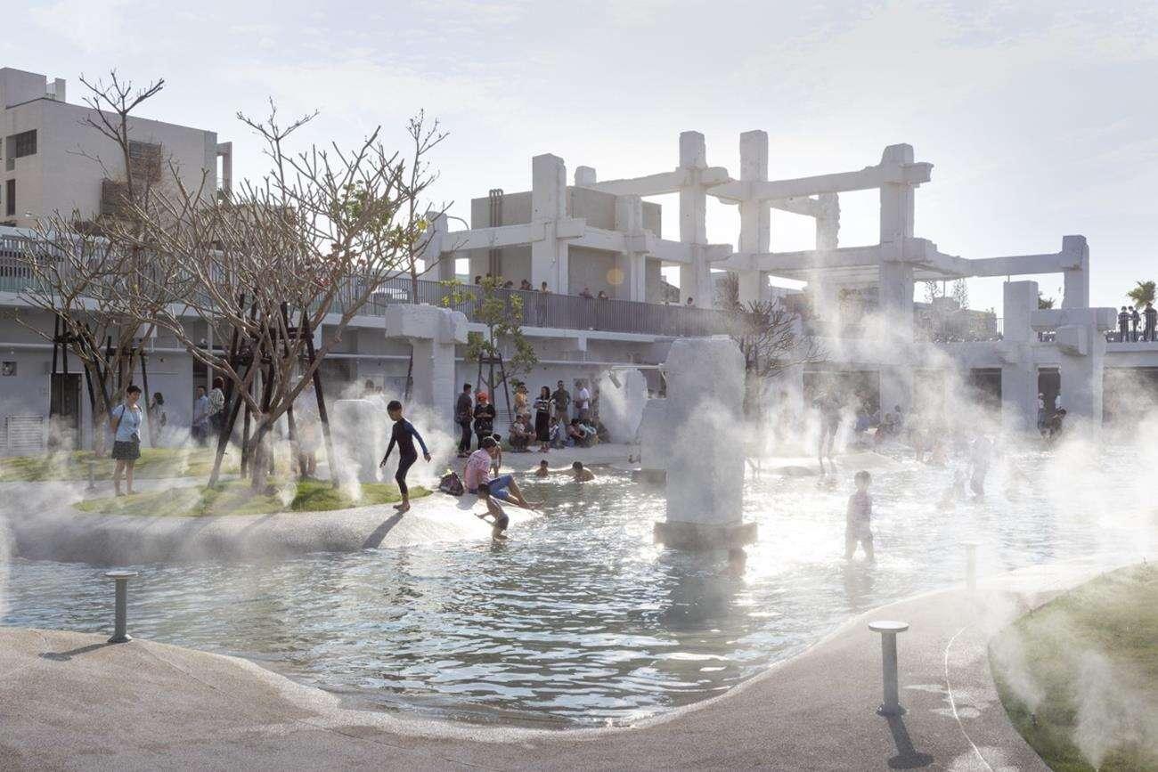 centrum handlowe, śródmiejska laguna, Tainan Spring, MVRDV