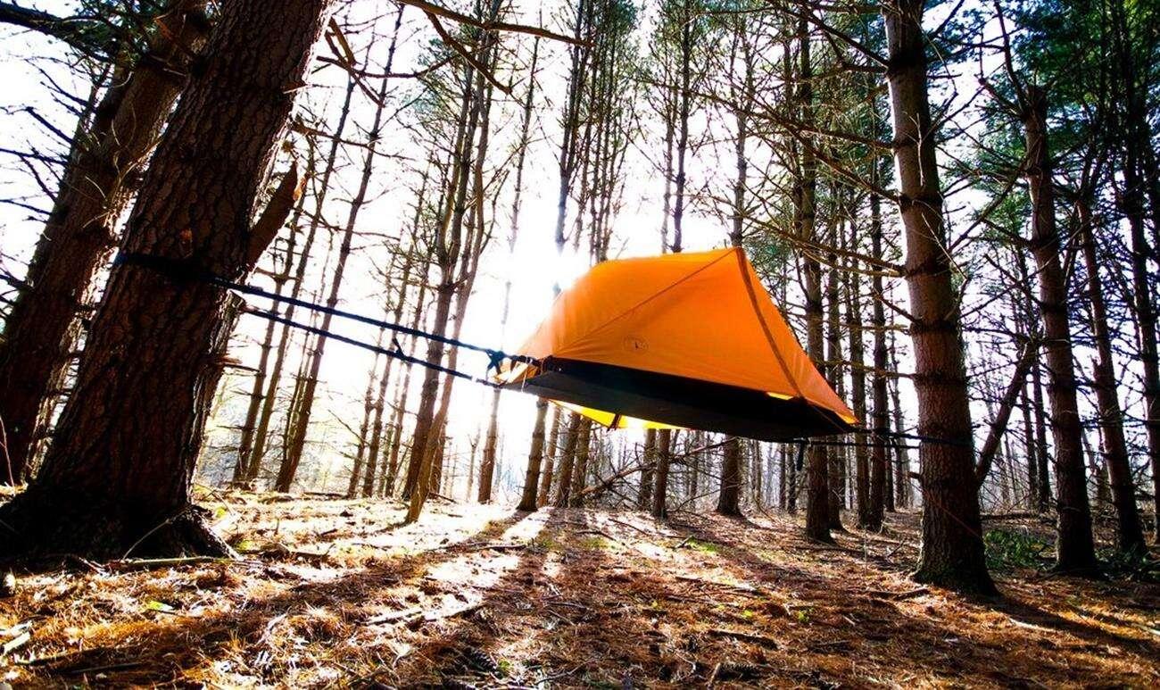 Aerial A1, hamak i namiot, połączenie namiotu i hamaku, kickstarter hamak