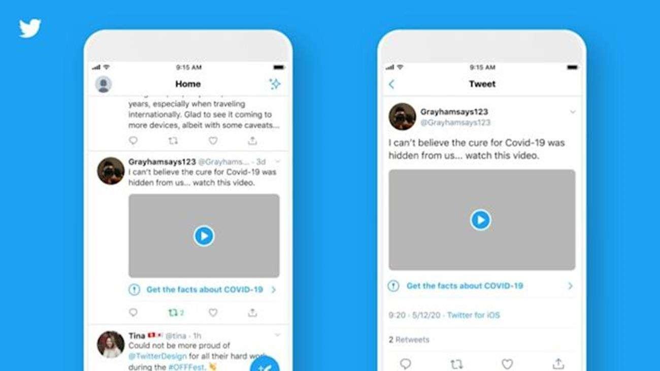 Twitter koronawirus, zmiany na twitterze, COVID19 Twitter, ostrzeżenia koronawirus Twitter