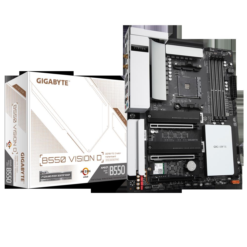test Gigabyte B550 Vision D, recenzja Gigabyte B550 Vision D, review Gigabyte B550 Vision D, opinia Gigabyte B550 Vision D
