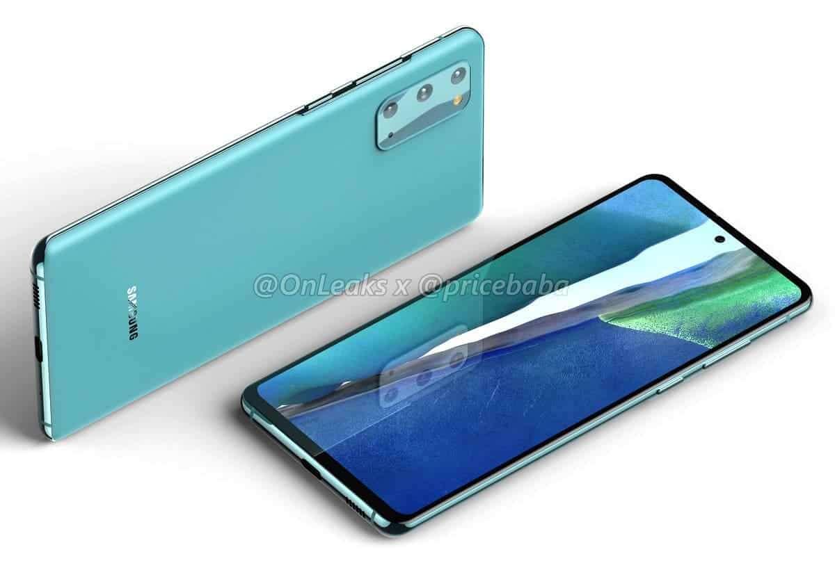 render Samsung Galaxy S20 Fan Edition
