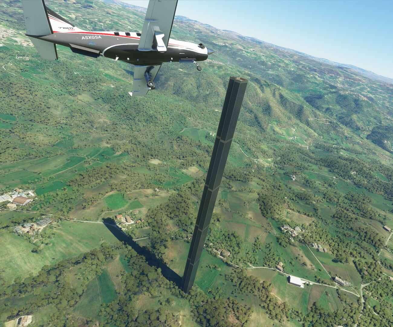 Tajemnicze obeliski w Microsoft Flight Simulator