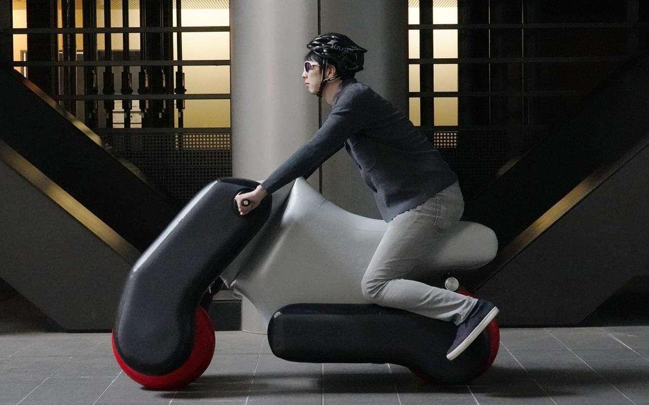 Poimo elektryczny skuter pompowanie