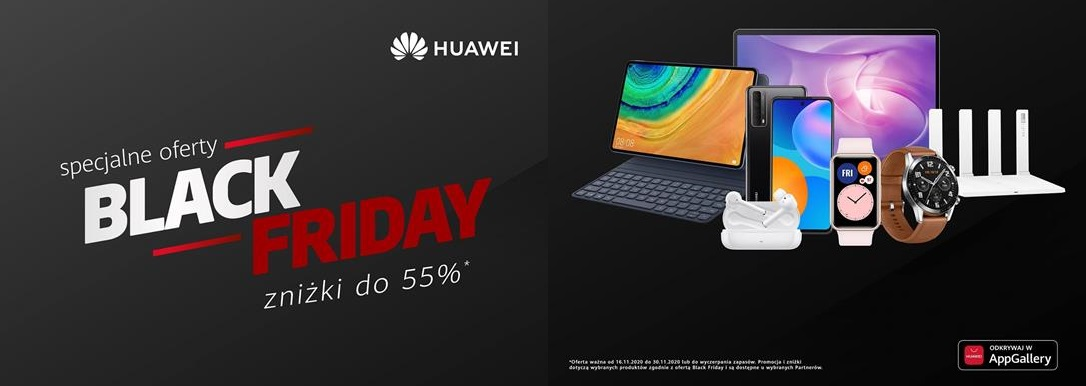 Huawei promocje, Huawei black friday