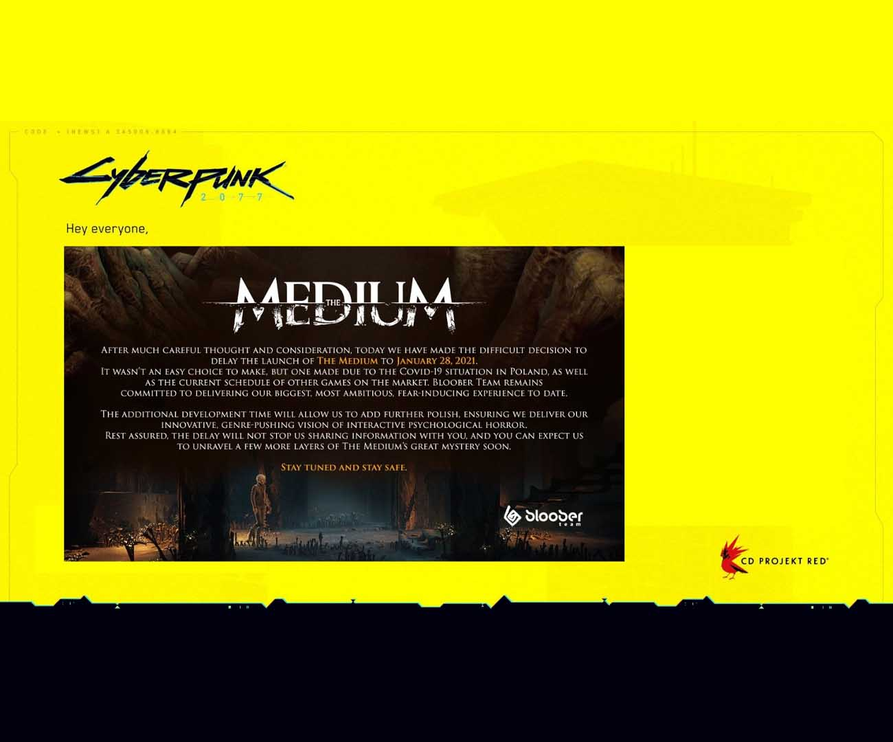 the medium, data premiery