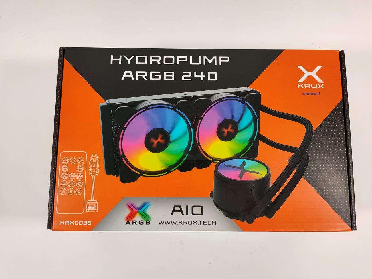 test Krux HydroPump ARGB 240, recenzja Krux HydroPump ARGB 240, opinia Krux HydroPump ARGB 240