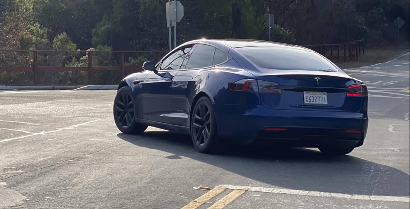 Odświeżona Tesla Model S, Tesla Model S 2021, wyszpiegowana Tesla Model S