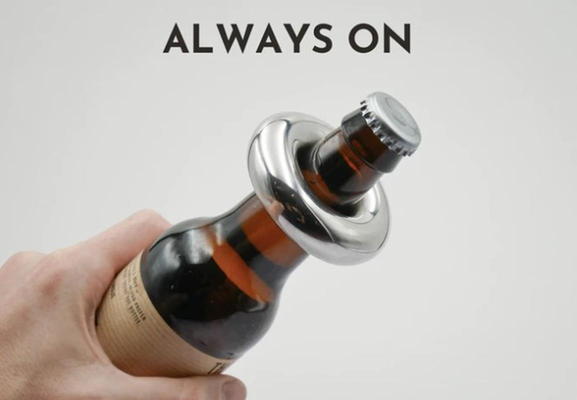 nowoczesny otwieracz butelek, HALO, otwieracz HALo, otwieracz butelek HALO