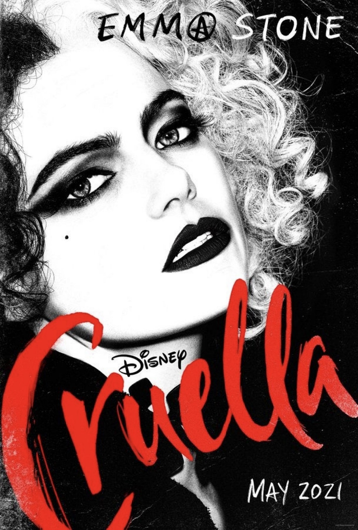 Emma Stone jako Cruella De Mon na nowym plakacie filmu Cruella