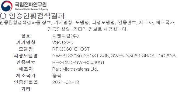 gainward rtx 3060 8 gb