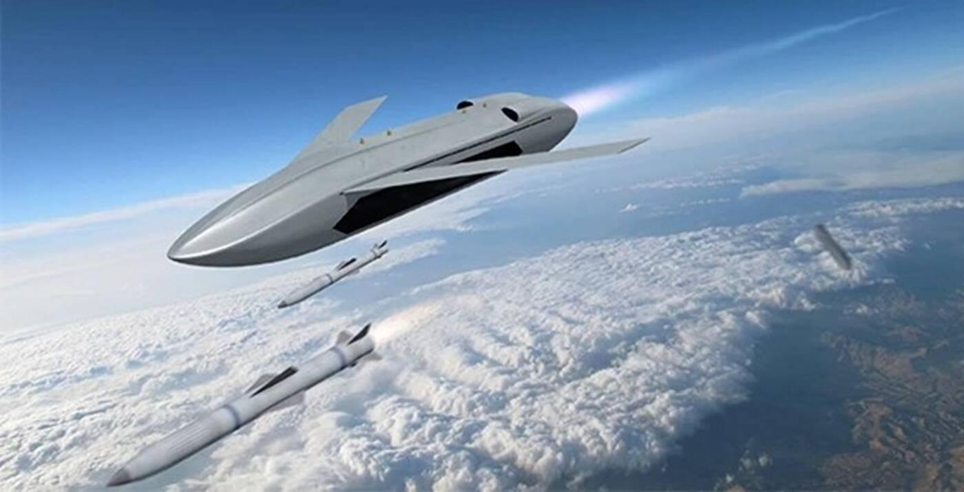 DARPA wojskowy dron LongShot z pociskami, dron LongShot z pociskami, wojskowy dron LongShot