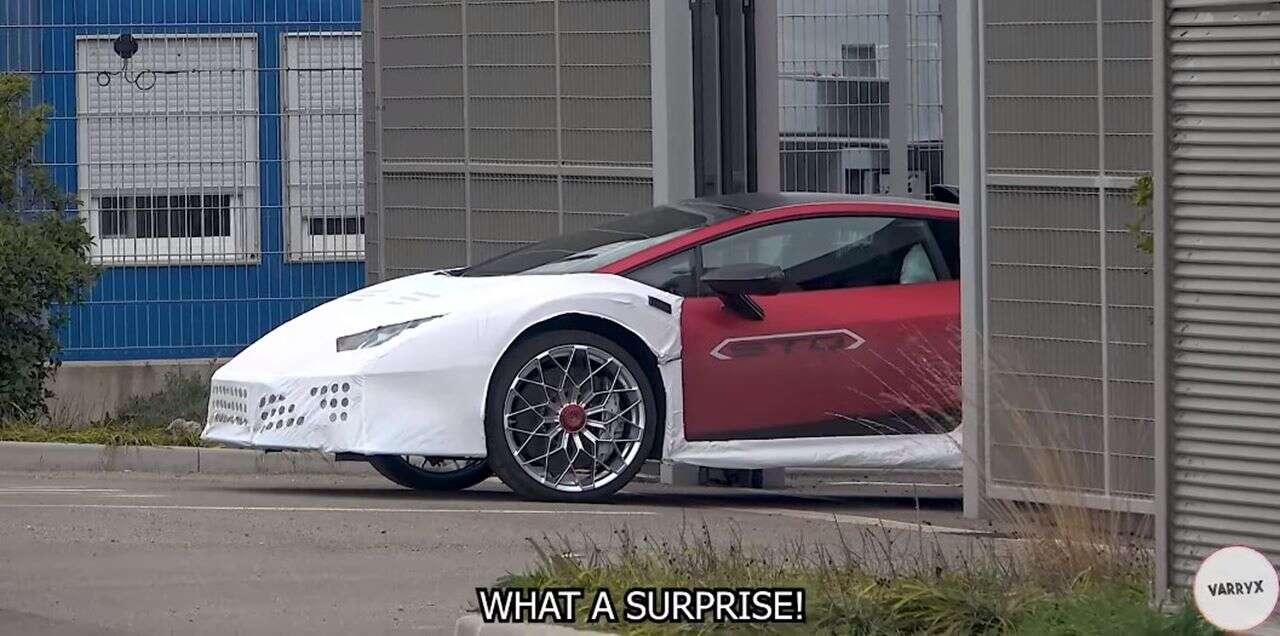 Nagranie Lamborghini Huracan STO