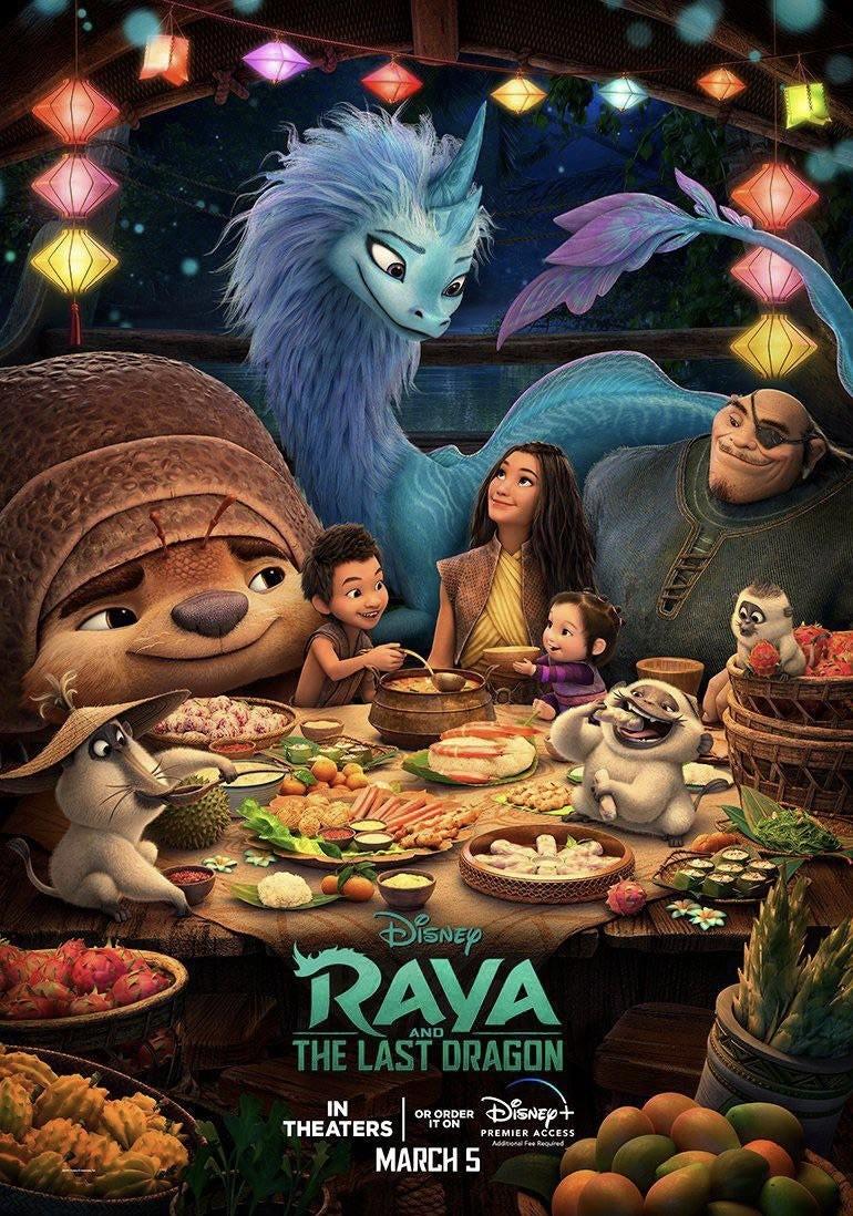 Bohaterowie animacji Raya i ostatni smok na nowym plakacie