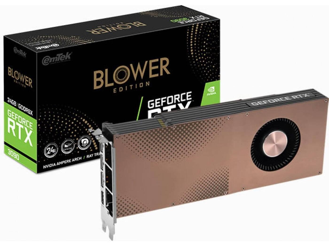 GeForce RTX 3090 z turbiną, Emtek GeForce RTX 3090 Blower