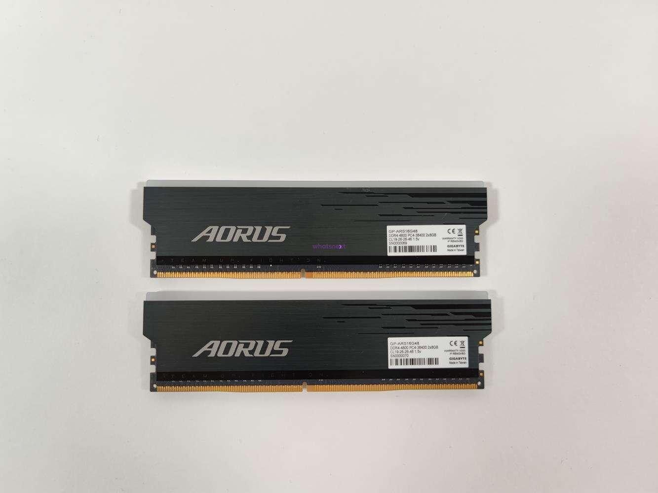 test Aorus RGB 2x 8 GB 4800 MHz, recenzja Aorus RGB 2x 8 GB 4800 MHz, opinia Aorus RGB 2x 8 GB 4800 MHz